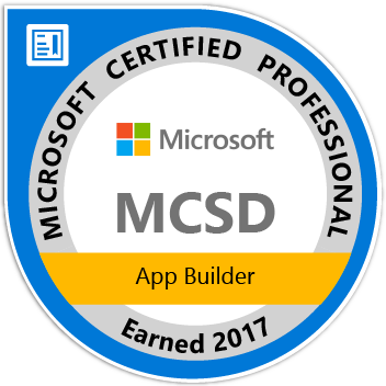 Microsoft Certified Solutions Developer: App Builder 2017