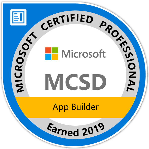 Microsoft Certified Solutions Developer: App Builder2019